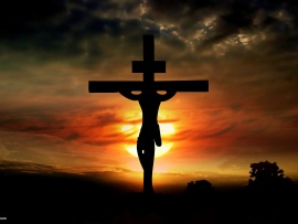 jesus-on-the-cross-at-sunset